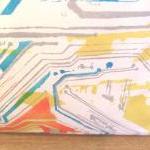 Funky circuit board pillow