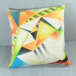 Modern bright geometric pillow