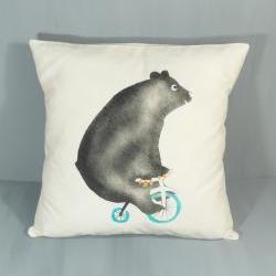 Comedy circus bear cushion